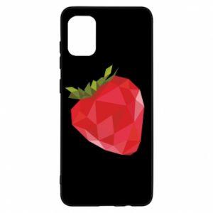 Etui na Samsung A31 Strawberry graphics