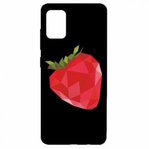 Etui na Samsung A51 Strawberry graphics