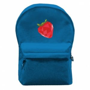 Backpack with front pocket Strawberry graphics - PrintSalon