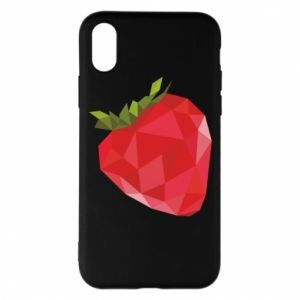 Etui na iPhone X/Xs Strawberry graphics