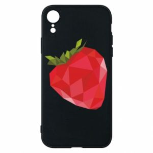 Etui na iPhone XR Strawberry graphics