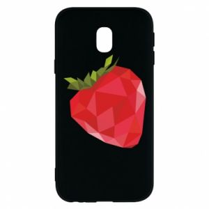 Etui na Samsung J3 2017 Strawberry graphics