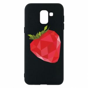 Etui na Samsung J6 Strawberry graphics