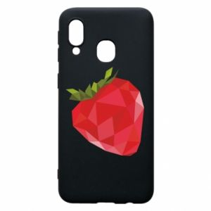 Etui na Samsung A40 Strawberry graphics