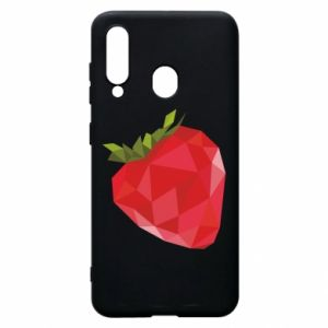 Etui na Samsung A60 Strawberry graphics