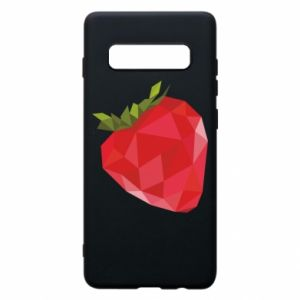 Etui na Samsung S10+ Strawberry graphics