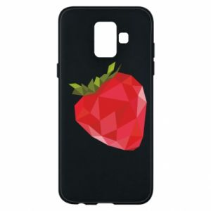 Etui na Samsung A6 2018 Strawberry graphics