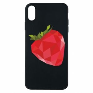 Etui na iPhone Xs Max Strawberry graphics
