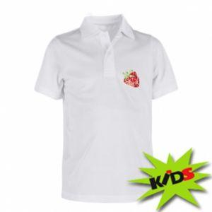 Dziecięca koszulka polo Strawberry red graphics