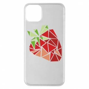 Etui na iPhone 11 Pro Max Strawberry red graphics
