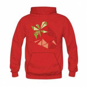 Bluza z kapturem dziecięca Strawberry red graphics