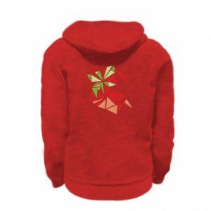 Bluza na zamek dziecięca Strawberry red graphics