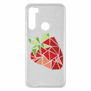 Etui na Xiaomi Redmi Note 8 Strawberry red graphics