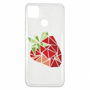Etui na Xiaomi Redmi 9c Strawberry red graphics