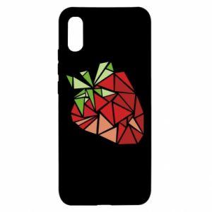 Etui na Xiaomi Redmi 9a Strawberry red graphics