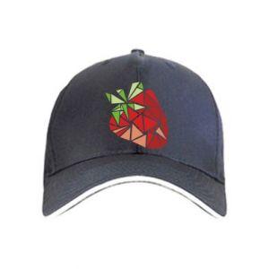 Cap Strawberry red graphics