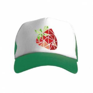 Czapka trucker dziecięca Strawberry red graphics
