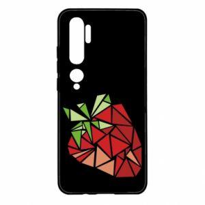 Etui na Xiaomi Mi Note 10 Strawberry red graphics