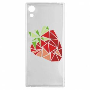 Etui na Sony Xperia XA1 Strawberry red graphics