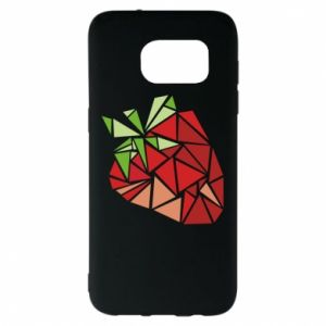 Etui na Samsung S7 EDGE Strawberry red graphics