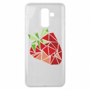 Etui na Samsung J8 2018 Strawberry red graphics