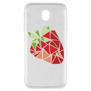 Etui na Samsung J7 2017 Strawberry red graphics