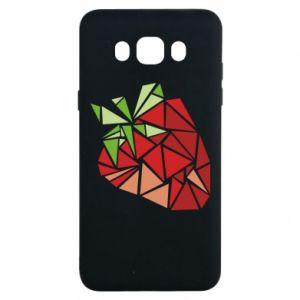 Etui na Samsung J7 2016 Strawberry red graphics