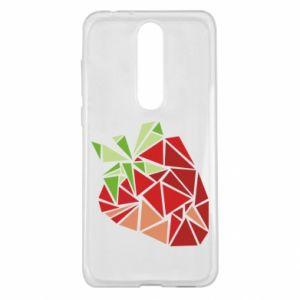 Etui na Nokia 5.1 Plus Strawberry red graphics
