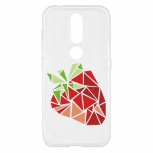 Etui na Nokia 4.2 Strawberry red graphics