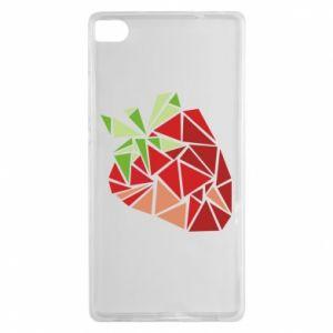 Etui na Huawei P8 Strawberry red graphics