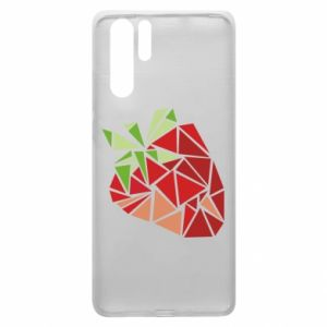Etui na Huawei P30 Pro Strawberry red graphics
