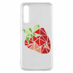 Etui na Huawei P20 Pro Strawberry red graphics