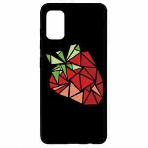 Etui na Samsung A41 Strawberry red graphics