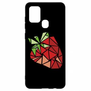 Etui na Samsung A21s Strawberry red graphics