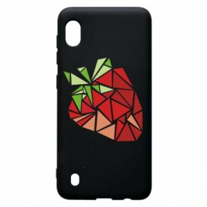 Etui na Samsung A10 Strawberry red graphics