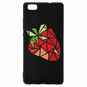 Etui na Huawei P 8 Lite Strawberry red graphics