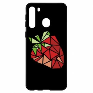 Etui na Samsung A21 Strawberry red graphics