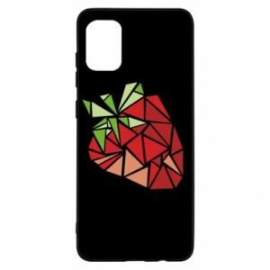 Etui na Samsung A31 Strawberry red graphics