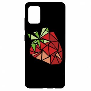 Etui na Samsung A51 Strawberry red graphics