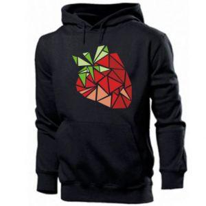 Męska bluza z kapturem Strawberry red graphics