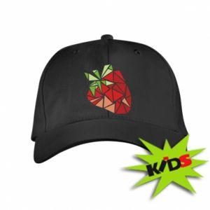 Czapeczka z daszkiem dziecięca Strawberry red graphics