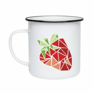 Kubek emaliowany Strawberry red graphics
