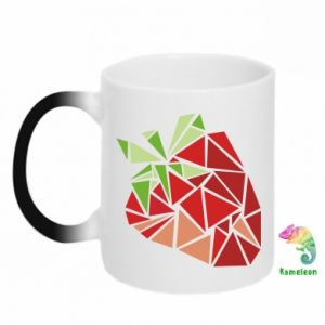 Kubek-kameleon Strawberry red graphics