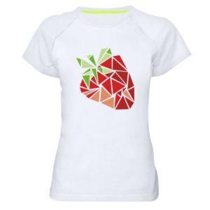 Koszulka sportowa damska Strawberry red graphics
