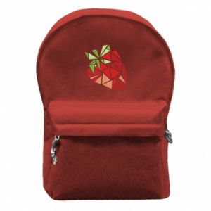 Plecak z przednią kieszenią Strawberry red graphics