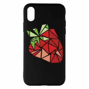 Etui na iPhone X/Xs Strawberry red graphics