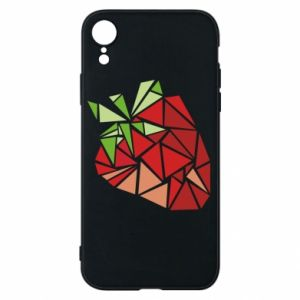 Etui na iPhone XR Strawberry red graphics