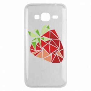 Etui na Samsung J3 2016 Strawberry red graphics
