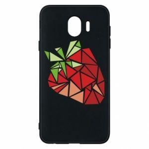 Etui na Samsung J4 Strawberry red graphics