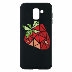 Etui na Samsung J6 Strawberry red graphics